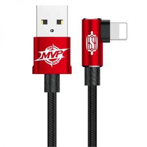 Кабель Lightning Baseus MVP Elbow 1M Красный Красный