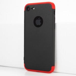 Двухкомпонентный сборный пластиковый матовый чехол для Iphone 7/8 Красный