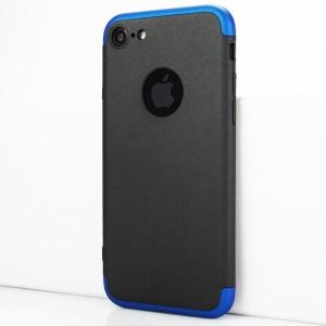 Двухкомпонентный сборный пластиковый матовый чехол для Iphone 7/8 Синий