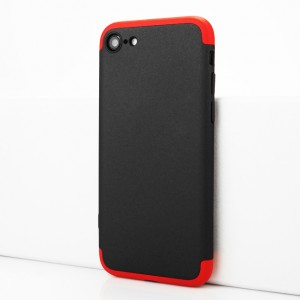 Двухкомпонентный сборный двухцветный пластиковый матовый чехол для Iphone 7/8 Красный