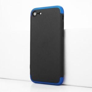 Двухкомпонентный сборный двухцветный пластиковый матовый чехол для Iphone 7/8 Синий