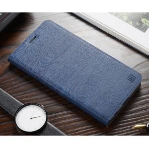 Чехол горизонтальная книжка подставка текстура Дерево на силиконовой основе с отсеком для карт для ASUS ZenFone 2 Laser 6 Синий