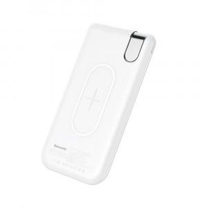 Внешний аккумулятор с функцией беспроводной зарядки Baseus Thin Version Wireless Charge 10000 mah Белый