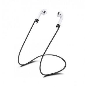 Ультралегкий экстрапрочный силиконовый кабель-держатель для Airpods Черный