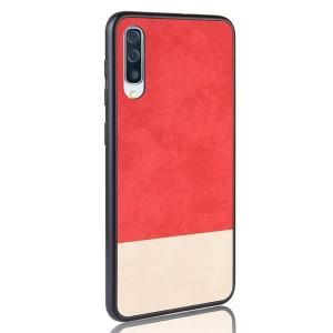 Силиконовый матовый непрозрачный чехол с текстурным покрытием Замша для Samsung Galaxy A50  Красный