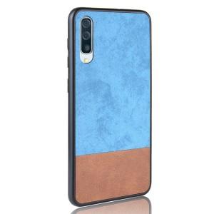 Силиконовый матовый непрозрачный чехол с текстурным покрытием Замша для Samsung Galaxy A50  Голубой
