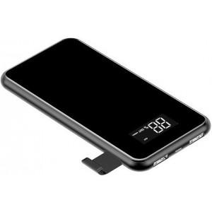 Внешний аккумулятор с функцией беспроводной зарядки Baseus Power Bank QI Wireless Charger 2A Dual USB 8000mAh Черный