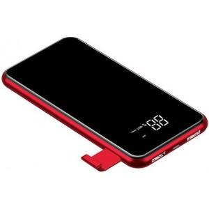 Внешний аккумулятор с функцией беспроводной зарядки Baseus Power Bank QI Wireless Charger 2A Dual USB 8000mAh Красный