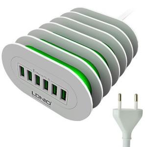 Зарядное устройство Ldnio Quick Charge 6 USB 7А (A6702) Белый