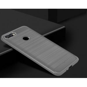Силиконовый матовый непрозрачный чехол с текстурным покрытием Металлик для Iphone 7 Plus Серый