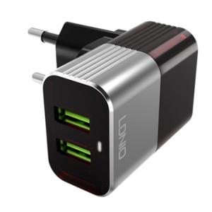Зарядное устройство Ldnio 2 USB 2.4A + Type-C кабель (A2206) Черный