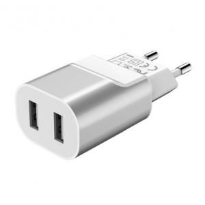 Сетевое зарядное устройство Hoco C47A 2 USB 2.1A Fast Charger Серый