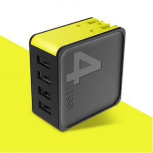 Сетевой блок питания Rock Sugar Travel Charger 4.0A 4 USB (US) Черный