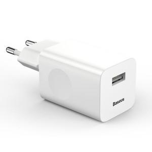 Сетевой блок питания Baseus 24W Travel EU Plug Wall Charger Белый