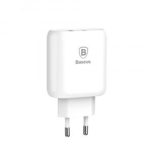 Сетевой блок питания Baseus Bojure Series Type-C PD+USB quick charger Белый