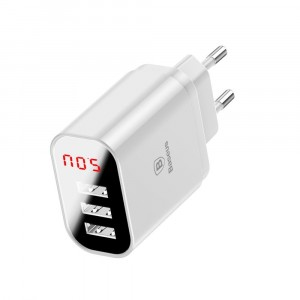 Сетевой блок питания Baseus Mirror Travel Charger 3 USB 3.4А Белый