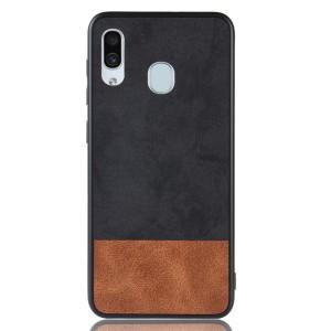 Силиконовый матовый непрозрачный чехол с текстурным покрытием Замша для Samsung Galaxy A30  Черный