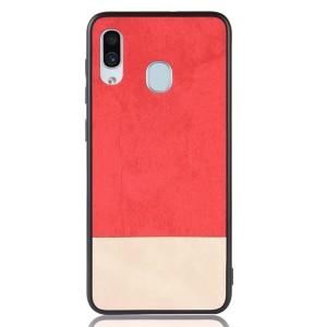 Силиконовый матовый непрозрачный чехол с текстурным покрытием Замша для Samsung Galaxy A30  Красный