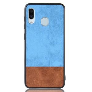 Силиконовый матовый непрозрачный чехол с текстурным покрытием Замша для Samsung Galaxy A30  Голубой