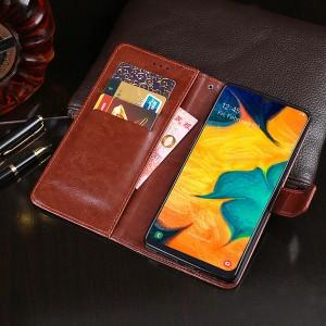 Глянцевый водоотталкивающий чехол портмоне подставка на силиконовой основе с отсеком для карт на магнитной защелке для Samsung Galaxy A20/A30