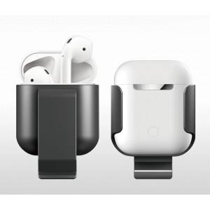 Пластиковый чехол с клипсой для Apple AirPods Серый