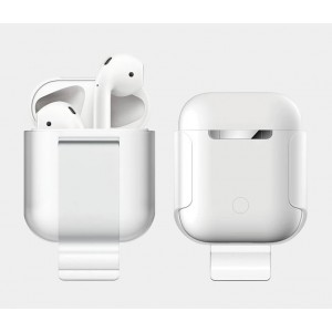 Пластиковый чехол с клипсой для Apple AirPods Белый