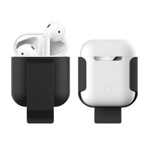 Пластиковый чехол с клипсой для Apple AirPods Черный
