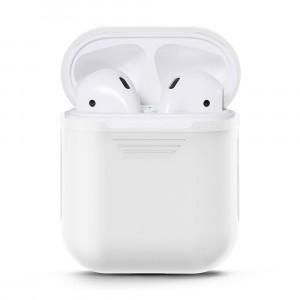 Силиконовый матовый чехол для Apple AirPods Белый