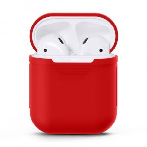 Силиконовый матовый чехол для Apple AirPods Красный