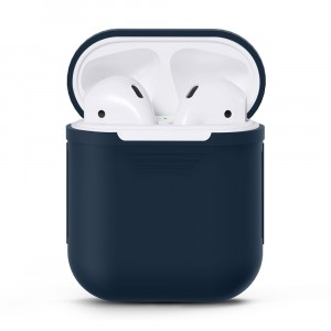 Силиконовый матовый чехол для Apple AirPods Синий