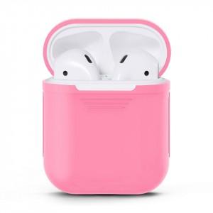 Силиконовый матовый чехол для Apple AirPods Розовый