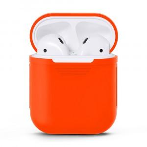 Силиконовый матовый чехол для Apple AirPods Оранжевый
