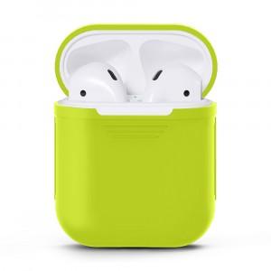 Силиконовый матовый чехол для Apple AirPods Зеленый