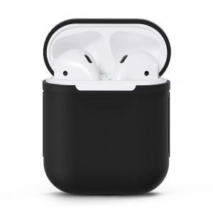 Силиконовый матовый чехол для Apple AirPods Черный
