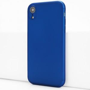 Двухкомпонентный сборный пластиковый матовый чехол для Iphone Xr Синий