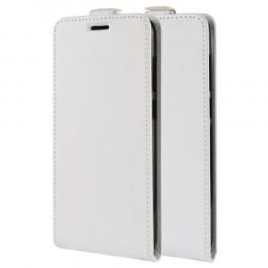 Чехол вертикальная книжка на силиконовой основе с отсеком для карт на магнитной защелке для Samsung Galaxy A70  Белый
