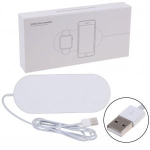 Беспроводное зарядное устройство 2 in 1 Mini AirPower Wireless Charger iPhone for Apple Watch Белый