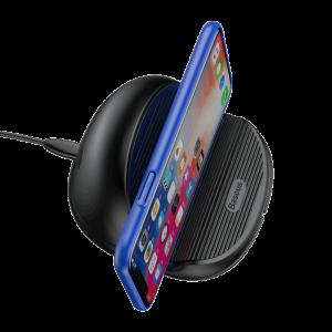 Беспроводное зарядное устройство Baseus Silicone Horizontal Desktop Wireless Charger Черный