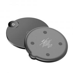 Беспроводное зарядное устройство Baseus Digital LED Display 10W Wireless Charger Pad Черный