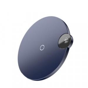 Беспроводное зарядное устройство Baseus Digital LED Display 10W Wireless Charger Pad Синий