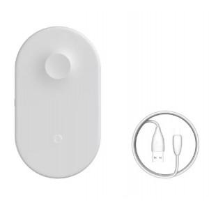 Беспроводное зарядное устройство Baseus Smart 2in1 Wireless Charger 10W (BSWC-P19) Белый