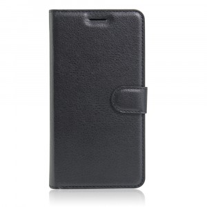 Чехол портмоне подставка на силиконовой основе с отсеком для карт на магнитной защелке для Iphone SE Черный