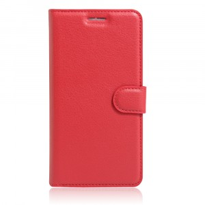 Чехол портмоне подставка на силиконовой основе с отсеком для карт на магнитной защелке для Iphone SE Красный
