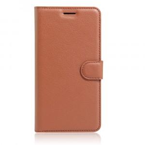 Чехол портмоне подставка на силиконовой основе с отсеком для карт на магнитной защелке для Iphone SE Коричневый