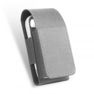 Тканевый чехол на магнитной защелке для IQOS 3.0 и стиков с кольцом-держателем и доступом к зарядному разъему Серый
