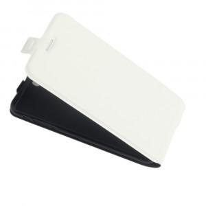 Винтажный чехол вертикальная книжка на силиконовой основе с отсеком для карт на магнитной защелке для Iphone SE Белый