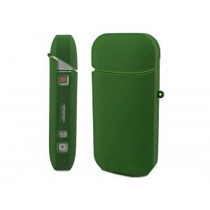 Противоударный силиконовый матовый непрозрачный чехол с ушком для ремешка для IQOS 2 Зеленый