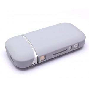 Противоударный силиконовый матовый непрозрачный чехол с ушком для ремешка для IQOS 2 Серый