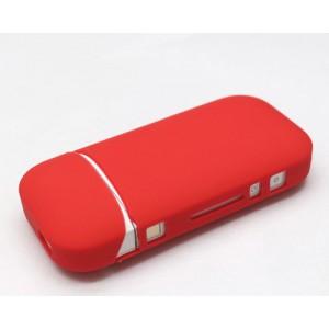 Противоударный силиконовый матовый непрозрачный чехол с ушком для ремешка для IQOS 2 Красный