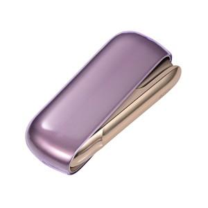 Силиконовый глянцевый полупрозрачный чехол для IQOS 3.0 Фиолетовый